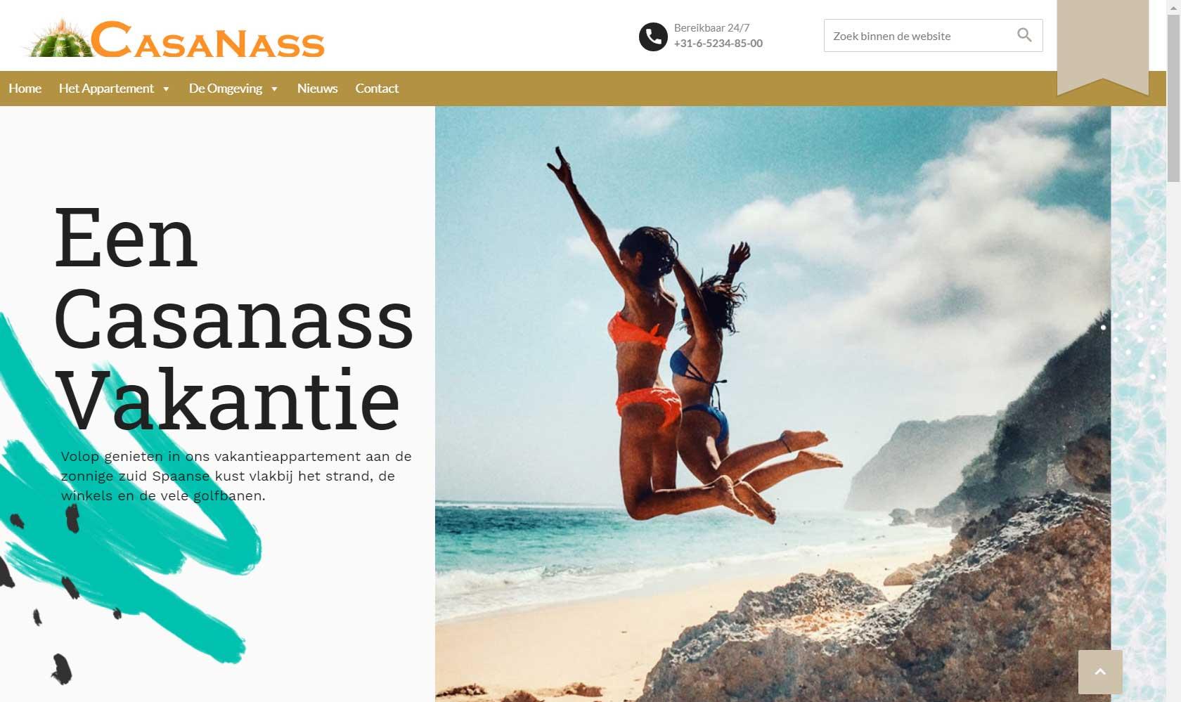 Vakantiehuis website